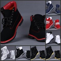 Wholesale Black Platform Winter Boots - New Arrival HOT 2017 Mens Ankle With 7 Color top quality genuine leather snow boots For Men