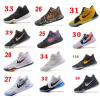 2017 New Kyrie Irving 3 Gold Tie Dye Bhm Men Basquete Shoes PE Red Black Silver Alta qualidade Outdoor barato Original Training Sneakers