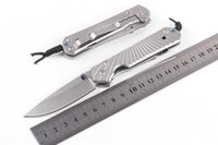 en kaliteli cep bıçakları toptan satış-Chris Reeve cep katlanır bıçak EDC Facas Açık Survival kamp bıçak Yüksek Kalite 5Cr15 Bıçak en iyi hediye Ücretsiz kargo