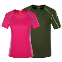 Wholesale Building Clothes - Outdoors Running Quick-Drying T-shirts Couple Breathable Short Sleeve Leisure Sports Tracksuit Women's Colorful Clothing Body building Coat