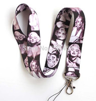 cell phone accessorie al por mayor-El envío libre 50pcs Marilyn Monroe Neck Lanyard Multicolor Phone Accessories Cell Phone Camera Neck Straps Lanyard regalos