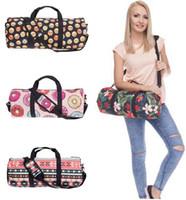 Wholesale Lemon Yellow Handbags - Luxury Handbags Travel Bags Sport Handbags Duffel Bag Beach Luggage Bag Outdoor Gym Yoga Bags Emoji Lemon Watermelon Fashion Shoulder Bags