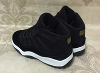 Wholesale Summer Infant Sale - Black gold Retros 11s baby small kids basketball shoes for sale 11 Infant Sports sneaker boy and girl children athletic sneaker SIZE 28-35