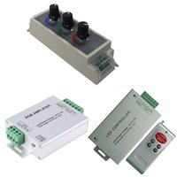 Wholesale 12v Dc Pwm Controller - Led RGB Amplifier   PWM Dimmer   RF Controller Signal Repeater 120w 288w 576W for 2835 5050 lighting Input dc 5v 12V 24V 24A