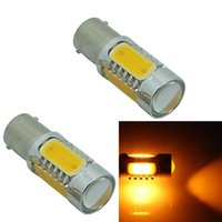 Wholesale led car light bulbs replacement resale online - 2pcs BA15S W COB LED Car Auto Turn Signal Lights Backup Reverse Bulb Replacement Lamp Red Yellow White v