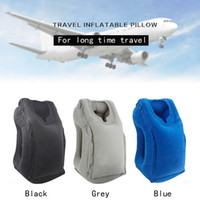 Wholesale Patchwork Cushions - 2017 hot selling popular Portable Travel Camping Self Inflatable Air Cushion travel pillow travel sleeping outdoor pillows