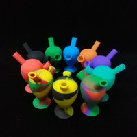 Wholesale Cheap Bubblers - Cheap 10 Colors 3 Inch Silicone Blunt Bubblers Bongs Silicone Water Pipes WorldWide Fress Shipping Real Silicone Bongs