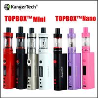 Wholesale Nano Green - Kangertech topbox mini TC Kit 75w mod 4ml Top Filling Sub Ohm Tank Kanger Topbox nano 60W TC kit with 3ml toptank nano