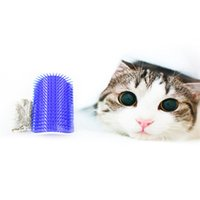 Wholesale Cat Corner Massage Machine Brush Carding Catnip Silvervine Pet Comb Tool Trimmer Comb Pet Rake Grooming Brushes