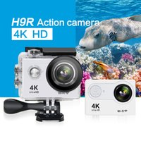 Wholesale sell used electronics online - Hot selling H9R remote Action camera Waterproof Ultra HD K Video Action Camera degrees Wide Angle Sports Camera inch Screen p
