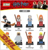 Wholesale Death Eater - 480pcs lot Harry Potter Minifig Hermione Dumbledore Ginny Ron Death Eater Fred Georage Luna Mini Building Blocks Figures Toy for Kids