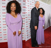 Wholesale Designer Mother Dress Jackets - 2016 Oprah Winfrey Light Purple Celebrity Dresses Long Sleeves Sashes Floor Length Pleat Designer Long Pageant Mother Of Bride Evening Dress