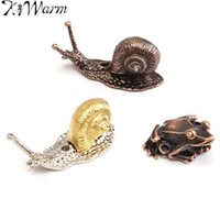 украшения ручной работы оптовых-Wholesale- 1Pcs Red Copper Alloy Animal Toad Snail Incense Burner Holder for Incense Sticks Handmade Craft Ornament DIY Home Decoration