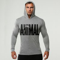 Wholesale Thin Breathable Coat - Thin Casual Unisex Hoodies Jogger Sweatshirt Animal Printed Hip-hop Pullover Hooded Mens Sportwear Coat for Sport Bodybuilding