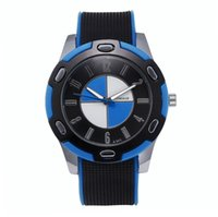 Wholesale Womage Colors - 100pcs lot WOMAGE-A365 11 Colors Car LOGO Dial Digital Watch Unisex Silicone Strap Alloy Wristwatch Wholesale