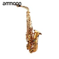 Wholesale Plastic Alto Saxophone - Wholesale- Top Quality Brass Sax Saxophone Eb Be Alto E Flat Carved Pattern Plastic Mouthpiece with Gloves Cleaning Cloth Brush Straps