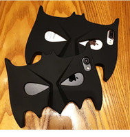Wholesale Cool Apple Skins - Cool Batman Mask Silicone Phone Rear Protective Cover Case for iPhone 7 7Plus 6 6S Plus 6Plus 5 5S SE Phone Skin Shell Cover