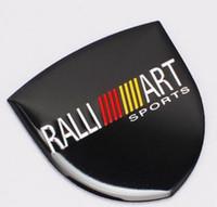 Wholesale car ralliart for sale - High Quality Aluminum alloy Sticker Car Motorsport Sticker Label Emblem Badge car styling for Mitsubishi MOTORS RALLIART x26mm x34mm