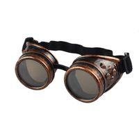 steampunk vente de lunettes achat en gros de-Vente en gros-Hot Ventes Vintage Style Steampunk Lunettes De Soudage Punk Lunettes Cosplay Livraison gratuite en gros