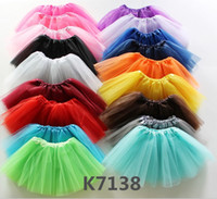 Wholesale Girls Dance Costume Dress Sequin - 43 Colors!Girls Glitter Ballet Dancewear Tutu Skirt Girls Bling Sequins Tulle Tutu Skirts Princess Dressup Skirts Costume Puff Dance Dress