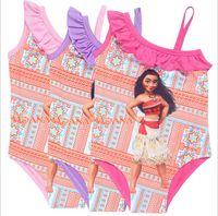 Wholesale Childrens Bikini Swimwear - 20PCS Moana Swimwear Summer Girls Childrens Swimsuit Clothing Beach Bikinis Bathing Suit Newest Cartoon Boutique Swim Clothes TY20