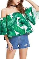 Wholesale Trendy Wholesale Summer Clothing - Wholesale Fashion Slash Neck Women T-shirt European And American Trendy Short T-shirt Hot Sale Summer Women Clothes