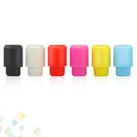 Wholesale Silica Test Tips - 510 Test Drip Tip Disposable Silica Gel Drip Tip Silicone Mouthpiece Wide Bore E Cigarette fit RDA Atomizers Colorful DHL Free