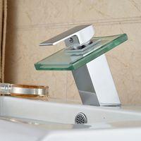 lavabo de vidrio baratosel nuevo agua caliente caliente de la manija del canal de