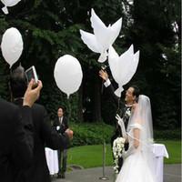 ingrosso dove balloons matrimonio-Matrimonio elio gonfiabile palloncini colomba bianca biodegradabile per la decorazione della festa nuziale a forma di palloncini bio a forma di 104 * 40 cm