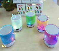 Wholesale Outdoor Center - 2017 hotsale Mini portable S10A9 crackle texture Bluetooth Speaker with LED light can insert U disc, mobile phone player with retail box