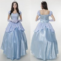 Wholesale Sissi Costume - Sissi Princess Dress Snow White Costume Halloween Party Elegant Noble Blue Gown Medieval Adult Fairy Cosplay