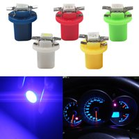 Lampes de base Wedge 5050 Plaque d'immatriculation SMD 5 couleurs 100Pcs T5 B8.5 Car-styling LED Dashboard Bulbs