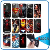 Wholesale 3D Design Deadpool l Marvel comic superhero Phone TPU Case for iPhone Plus s Plus quot quot Spiderman ironmanover