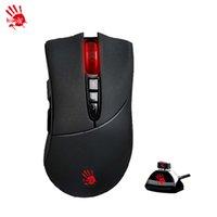 wireless gaming maus spiel großhandel-Großhandels-A4TECH Blutige R30 Wireless Gaming Mouse Schnellste Antwort der Welt R30 Golden Spirit Lithium Wiederaufladbare Wireless Game Mouse