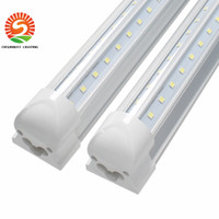 Vente chaude Led Light V Shape 8ft Cooler Door Tube T8 Integrated Led Tubes Double face SMD2835 Led Fluorescent Lights Coolers