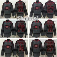 4d4b05f3 Ice Hockey Men Full Montreal Canadiens Charcoal black hockey jersey 31  Carey Price 67 Max Pacioretty
