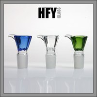 Wholesale Mixing Bowl Glass - Glass screen bowls male glass on bong of bowl big cone 18mm or 14mm honeycomb size mix colors bowl 18.8mm 14.4mm free Shipping HFY1105