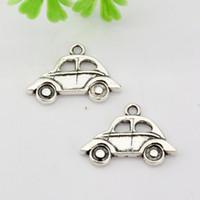 Wholesale Cars Slide - Hot ! 300 pcs Antique silver Zinc Alloy Single-sided Car Charm Pendants 21.5x15mm DIY Jewelry A-018