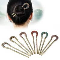 Hot Sale Bride Femme Pan Head Flower épingle à cheveux Epingle à cheveux Hair Retro Wild Hairpin FZ044 mélange commande 20 pièces beaucoup