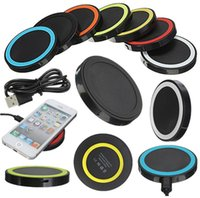 Multicolor Receiver Pad Coil Qi Wireless Ladegerät für Samsung Galaxy S3 S4 S5 S6 S7 S8 Edge IPhone 7 5 5C 5S 6 6Plus WXQ5