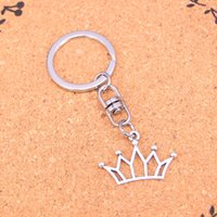 Wholesale Key Chain Crown - Fashion hollow crown Keychain For Men Trinket Portachiavi Car Keyring Key Chain Ring Chaveiro Jewelry Gift Souvenirs