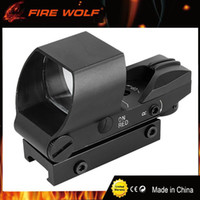 Wholesale Reflective Fire - FIRE WOLF Multi Reticle 1X22 Reflective Red Green Dot Sight Scope Parallax Tactical Red Dot Sights Riflescope