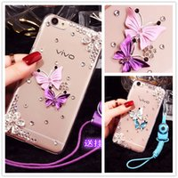 Wholesale S3 Mini Cover Black - Luxury butterfly Diamond case cover For Samsung Galaxy S3 S4 S5 mini S7 S6 Edge Plus Note 2 3 4 5 7 E5 E7 A3 A5 A7 A8 2015 2016 Case Cover