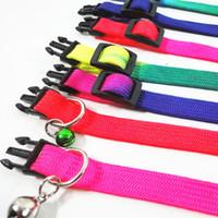 gökkuşkuş tasmalar toptan satış-Çan Ile Köpek Tasması Pet Tasma Kediler Tasma Çekiş Evcil Evcil Hayvanlar için Gökkuşağı Köpekler Kolye Dayanıklı Taşınabilir Tasmaları için Altı Renkler