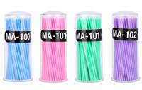 freie wimpernbürsten großhandel-Neue Mode Fabrik Preis Wimpernverlängerung Applikator Einweg Microbrush Wimpern 100 stücke Micro Pinsel Applikator kostenloser versand