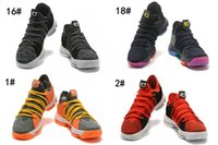 """Wholesale Picking Shoe - 2017 new KD 10 """"Oreo"""" Black White men basketball shoes KD10 X EP Air Kevin Durant Mens Shoes Sneakers Trainers Pick 1 sports shoes"""
