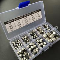 Wholesale Electrolytic Capacitor Box - Wholesale-10values 200pcs SMD Electrolytic capacitor assorted kit 10V~50V 1uF~470uF with storage box