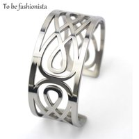 Wholesale Metal Hand Cuffs - Wholesale- Femme trendy Clothes hand jewelry New Metal Totem Monogram Arm Cuff Open Bracelets & Bangles pulseiras for Women Accessories
