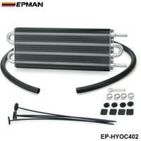 enfriador de transmisiones al por mayor-EPMAN - Kit de radiador de aceite de transmisión remota de aluminio de 4 hileras universal para radiador de aceite 402 OC-1402 2,500 lbs EP-HYOC402