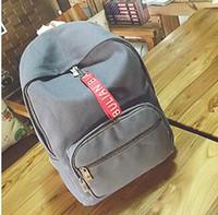 Wholesale laptops black red for sale - new arrival Fashion women punk backpack school bag unisex handbag student bag men travel Lady the laptop Bags